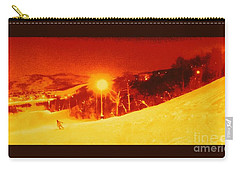 Carry-all Pouch featuring the photograph Park City Gold by Richard W Linford
