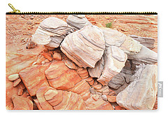 Carry-all Pouch featuring the photograph Park Road Sandstone In Valley Of Fire by Ray Mathis