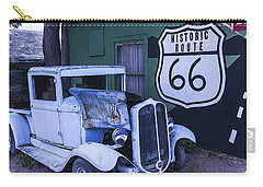 Parked Blue Truck Carry-all Pouch by Garry Gay