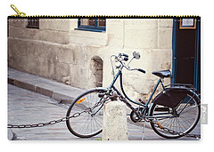 Parked In Paris - Bicycle Photography Carry-all Pouch by Melanie Alexandra Price