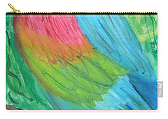 Carry-all Pouch featuring the painting Parrot At Sundy House by Donna Walsh