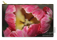 Carry-all Pouch featuring the photograph Parrot Tulip by Jolanta Anna Karolska