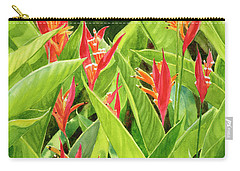 Parrots Flower With Background Carry-all Pouch