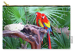 Carry-all Pouch featuring the digital art Parrots by Francesca Mackenney