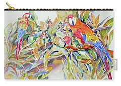 Parrots In Paradise Carry-all Pouch by Mary Haley-Rocks