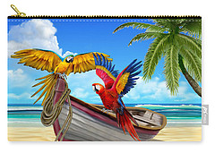 Parrots Of The Caribbean Carry-all Pouch