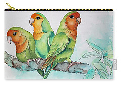 Parrots Trio Carry-all Pouch