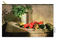 Carry-all Pouch featuring the photograph Parsley And Peppers by Diana Angstadt