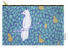 Partridge Pear Tree Carry-all Pouch by Donna Huntriss