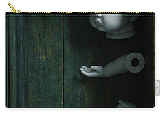 Parts Of A Plastic Doll In A Wooden Box Carry-all Pouch by Lee Avison