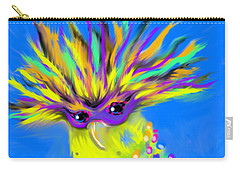 Carry-all Pouch featuring the digital art Party Animal by Jean Pacheco Ravinski