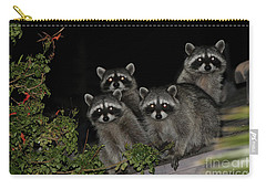 Carry-all Pouch featuring the photograph Party Of Five On The Roof Top by Nina Prommer