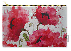 Party Poppies Carry-all Pouch