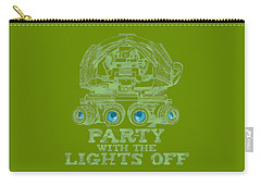 Carry-all Pouch featuring the mixed media Party With The Lights Off by TortureLord Art