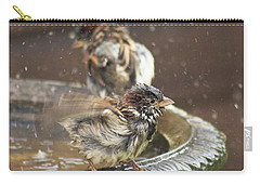 Pass The Towel Please: A House Sparrow Carry-all Pouch by John Edwards