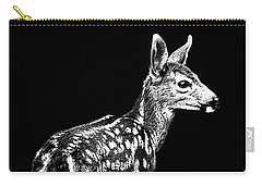 Carry-all Pouch featuring the photograph Passing Fawn by Adria Trail