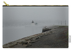 Carry-all Pouch featuring the photograph Passing In The Fog by Jeff Folger
