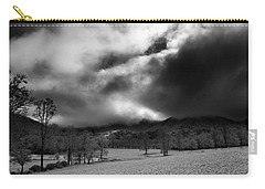 Passing Snow In North Carolina In Black And White Carry-all Pouch by Greg Mimbs