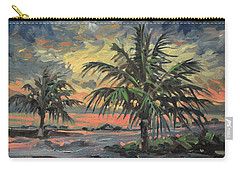 Carry-all Pouch featuring the painting Passing Storm by Donald Maier