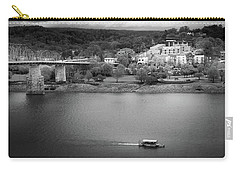 Passing Storm In Chattanooga Black And White Carry-all Pouch