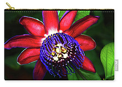 Carry-all Pouch featuring the photograph Passion Flower by Anthony Jones