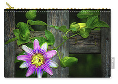 Passion Flower On The Fence Carry-all Pouch
