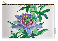 Passion Flower Carry-all Pouch by Tracey Harrington-Simpson
