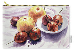 Carry-all Pouch featuring the painting Passion Fruits And Pears 2 by Joey Agbayani