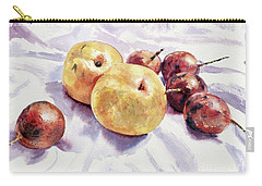 Carry-all Pouch featuring the painting Passion Fruits And Pears by Joey Agbayani