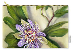 Carry-all Pouch featuring the painting Passion Vine Flower by Randol Burns