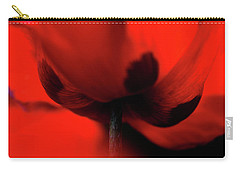 Carry-all Pouch featuring the photograph Passionate Red by Jenny Rainbow