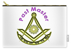 Past Master In White Carry-all Pouch
