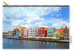 Pastel Building Coastline Of Caribbean Carry-all Pouch