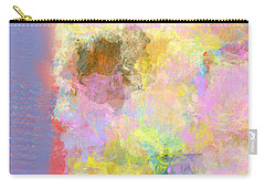 Carry-all Pouch featuring the digital art Pastel Flower by Jessica Wright