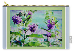 Pastel Green Field Flowers Carry-all Pouch