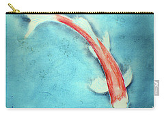 Carry-all Pouch featuring the drawing Pastel Koi by David Jackson