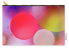 Carry-all Pouch featuring the photograph Pastel Oil Bubble Water Drops by John Williams