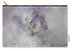 Pastel Pansies Still Life Carry-all Pouch by Sandra Foster