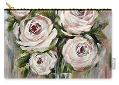 Pastel Pink Roses Carry-all Pouch