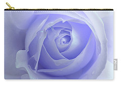 Pastel Purple Rose Flower Carry-all Pouch