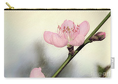 Carry-all Pouch featuring the photograph Pastel Spring Blossom By Kaye Menner by Kaye Menner