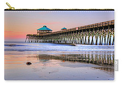 Pastel Sunrise On Folly Beach Pier In Charleston South Carolina Carry-all Pouch