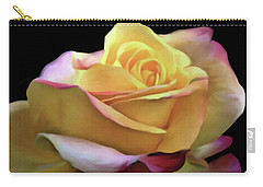 Pastel Yellow Rose Canvas Proofed Carry-all Pouch