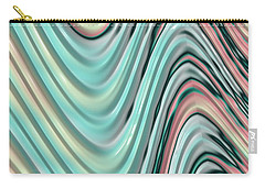 Carry-all Pouch featuring the digital art Pastel Zigzag by Bonnie Bruno