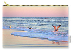 Pastels On Water Carry-all Pouch by Faith Williams