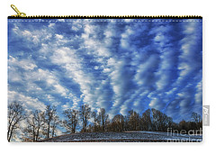 Pasture Field And Winter Sky Carry-all Pouch by Thomas R Fletcher