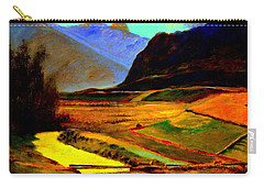 Pasture In The Mountains Carry-all Pouch