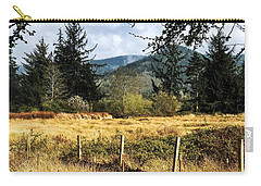 Carry-all Pouch featuring the photograph Pasture, Trees, Mountains Sky by Chriss Pagani