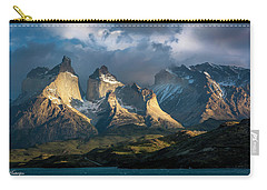Patagonian Sunrise Carry-all Pouch by Andrew Matwijec