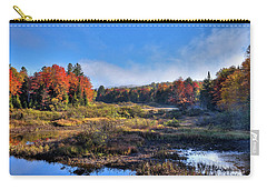 Carry-all Pouch featuring the photograph Patches Of Fog At The Green Bridge by David Patterson